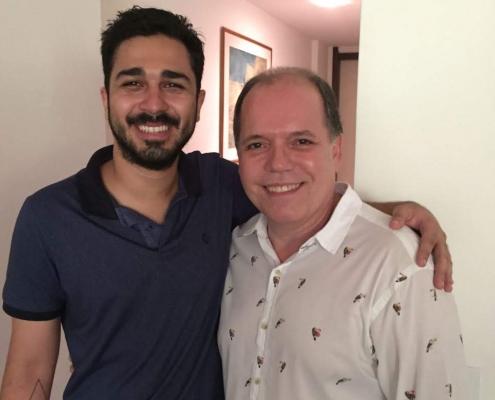 Adriano Sobral com cliente - Sobral Gastronomia