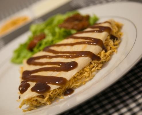 Buffet de Crepe - Frango com Catupiry e Cobertura - Sobral Gastronomia