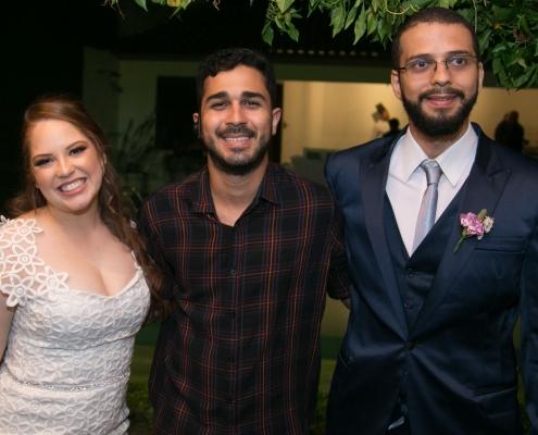Casamento - Adriano Sobral com noivos - Sobral Gastronomia