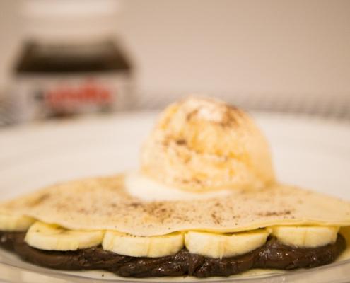 Buffet de Crepe - Crepe de Banana com Nutella - Sobral Gastronomia